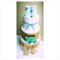 (Pre-assembled) 3-Tier Baby boy Nappy Cake Design